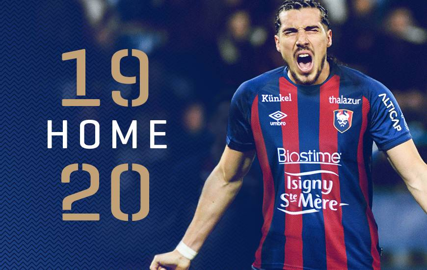 Caen 2020 nouveau maillot de foot 19 20