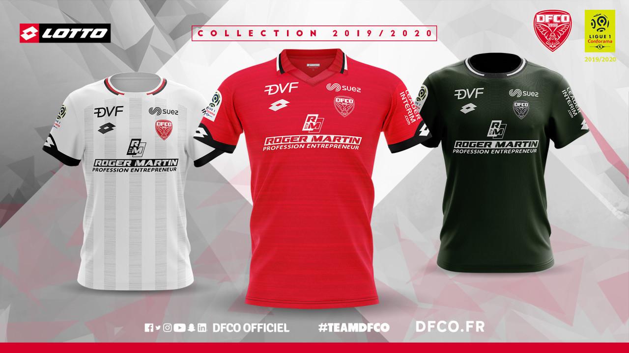 Dijon 2019 2020 nouveaux maillots de foot 19 20