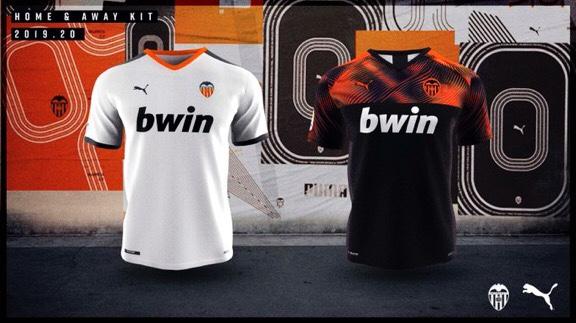 FC Valencia 2020 nouveaux maillots football Valence 19 20