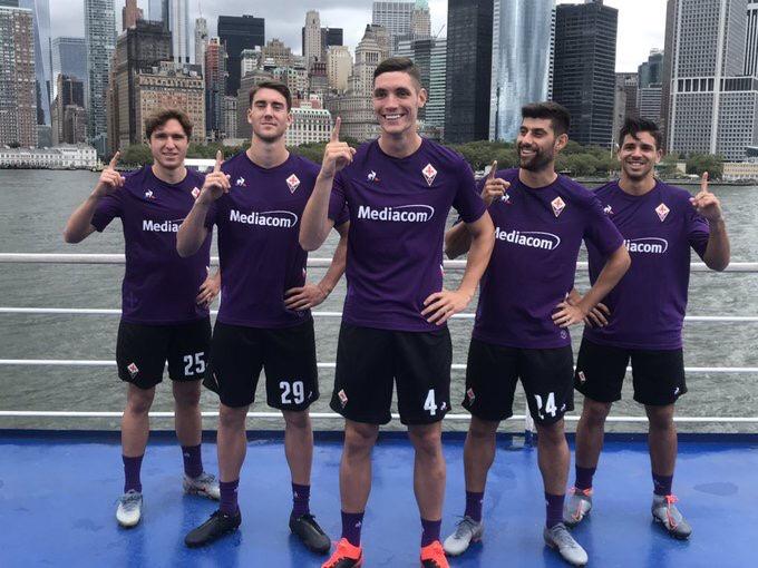 Fiorentina 2019 2020 maillot domicile football Coq Sportif
