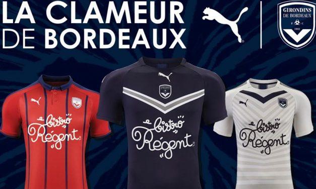 Girondins de Bordeaux les nouveaux maillots de foot 2019 2020