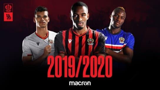 OGC Nice 2020 les nouveaux maillots de foot Macron