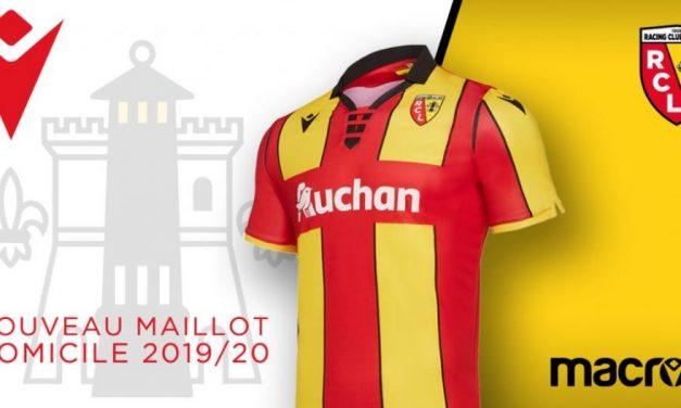 Lens 2020 les nouveaux maillots de foot avec Macron