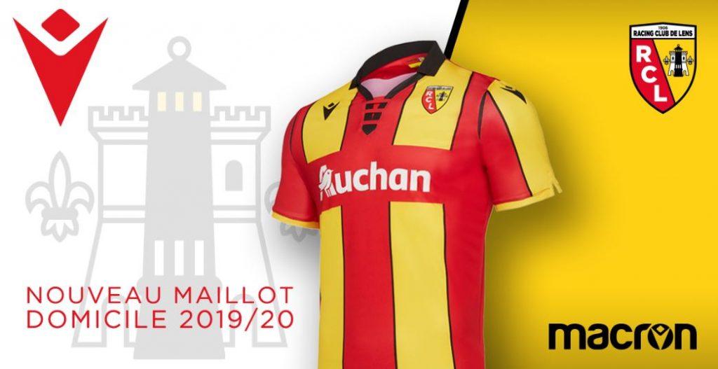 maillot domicile rc lens 2019 2020