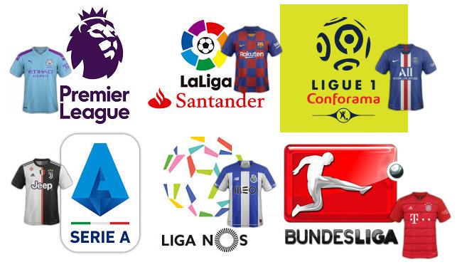 maillots de football clubs par championnat