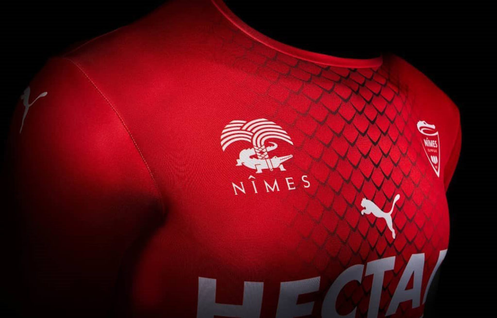 nimes olympique maillot domicile