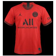 PSG 2020 nouveau maillot exterieur rouge Paris 19 20