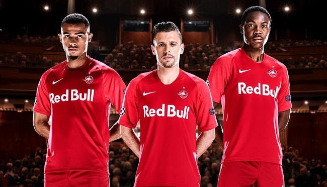 Red Bull Salzbourg 2020 maillot third LDC rouge