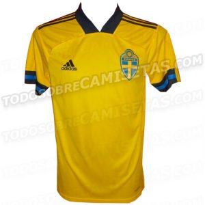 Suède Euro 2020 maillot domicile foot