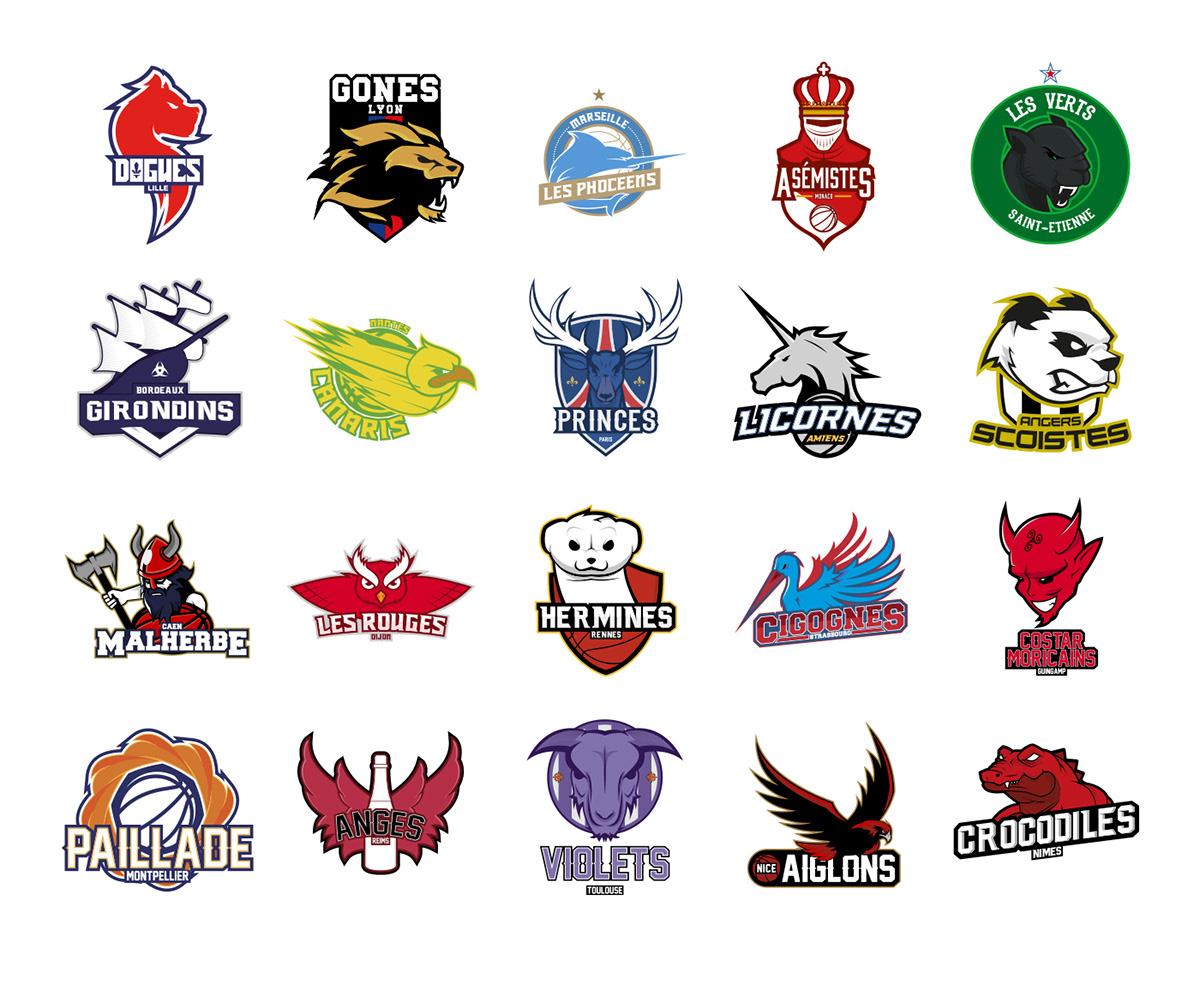 logos ligue 1 baskettball football