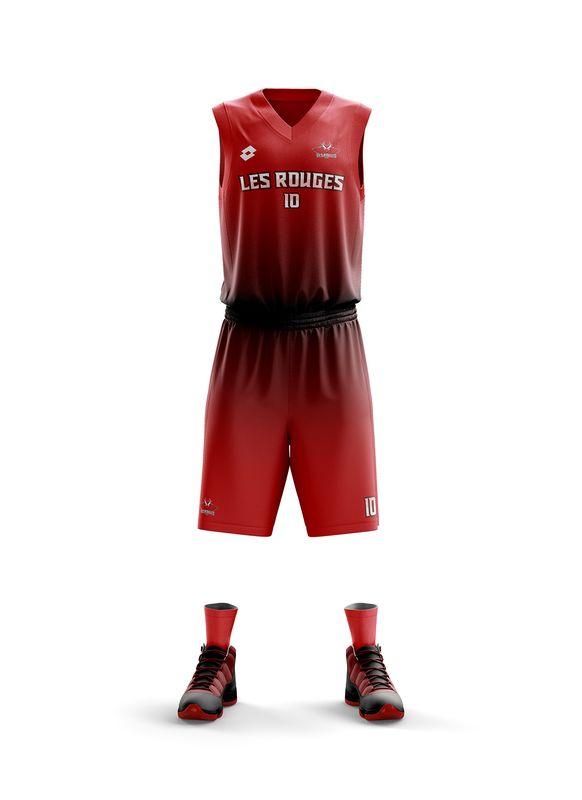 maillot Dijon NBA les rouges