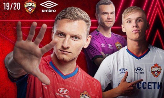 CSKA Moscou 2019-2020 nouveaux maillots de football Umbro