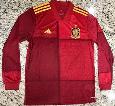 Espagne Euro 2020 maillot football domicile Adidas
