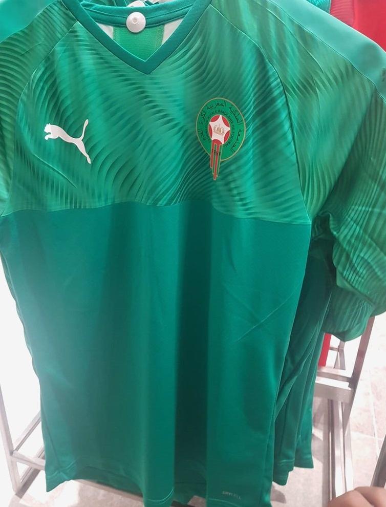 Maroc 2019 maillot de football exterieur vert Puma