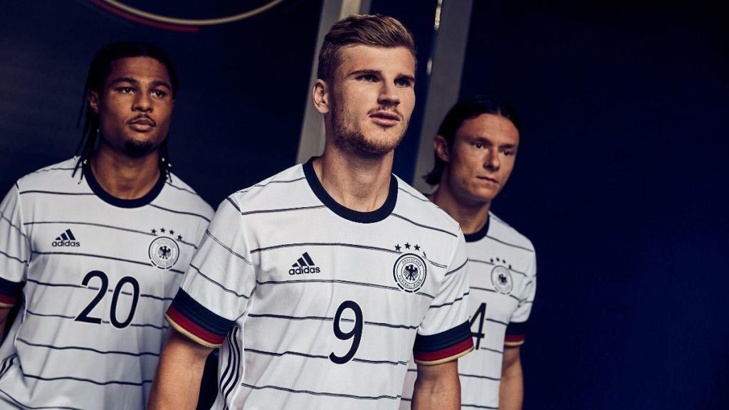 Allemagne Euro 2020 maillot domicile Adidas