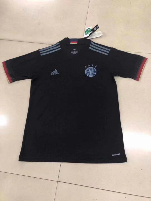 Allemagne Euro 2020 maillot exterieur noir Adidas