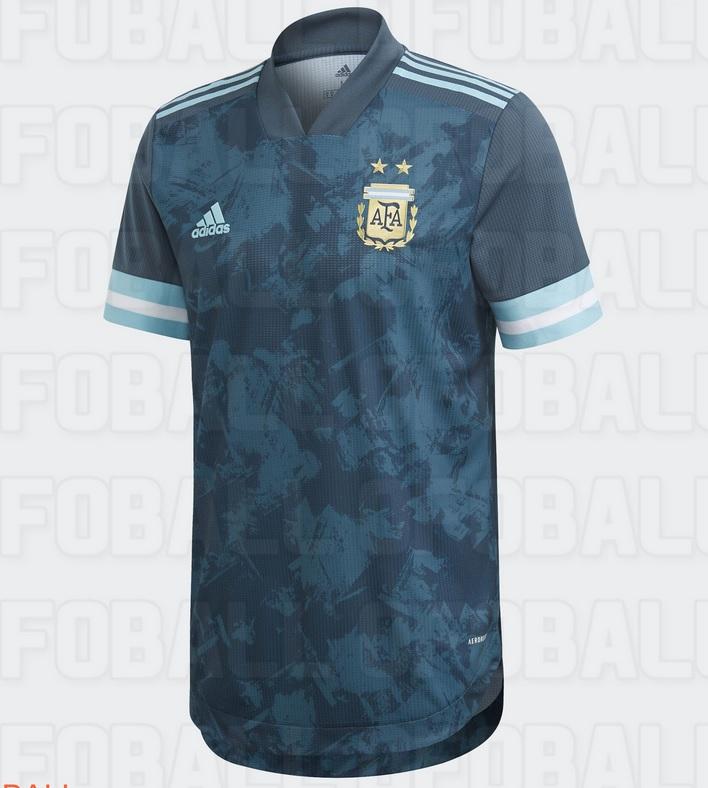 Argenitne 2020 nouveau maillot football exterieur Copa America