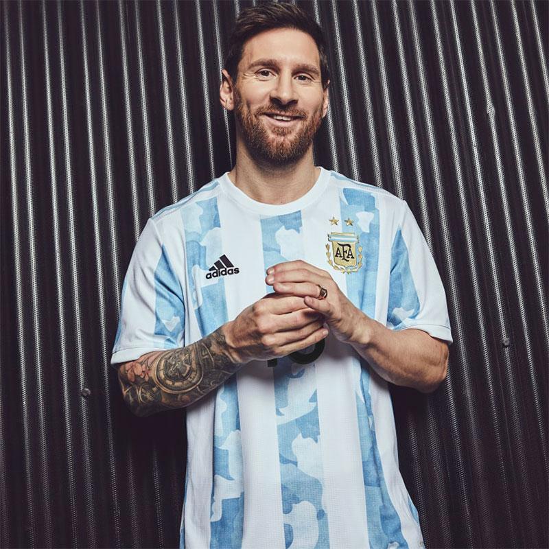 Argentine 2021 maillot domicile football Messi