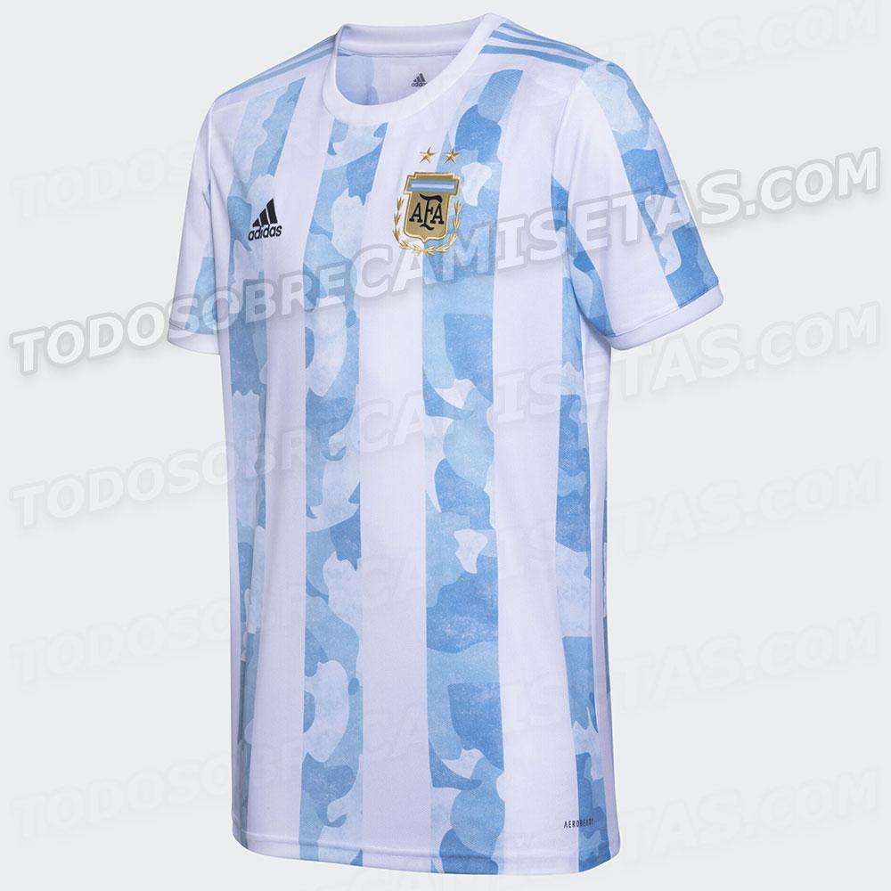 Argentine Copa America 2021 maillot de foot domicile Adidas