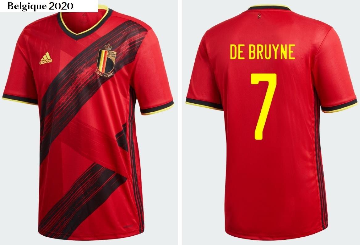 Belgique Euro 2020 maillot domicile adidas
