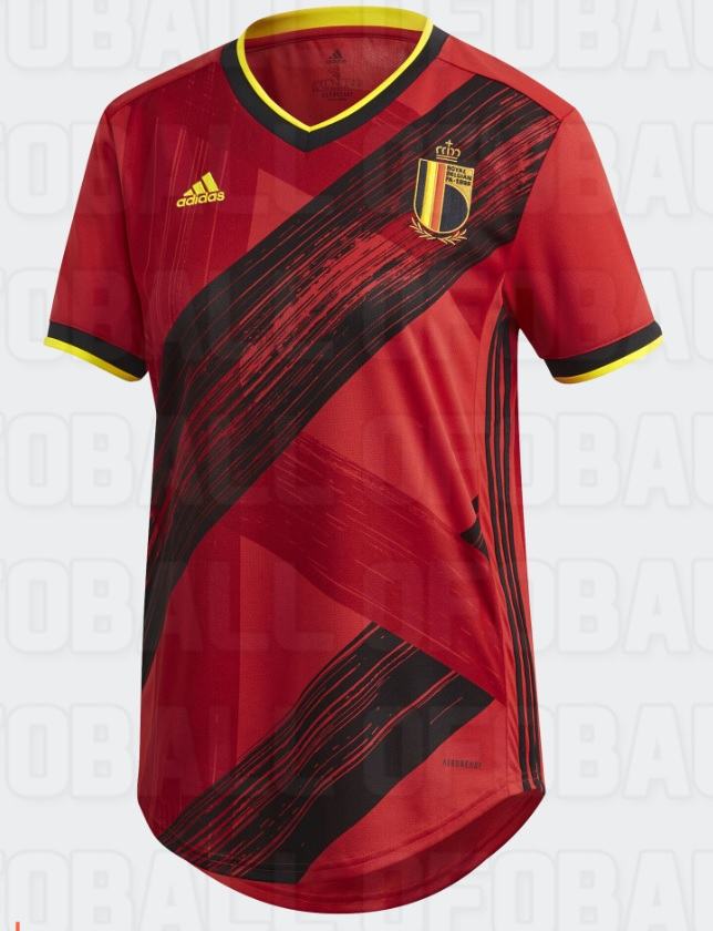Belgique Euro 2020 maillot domicile football Adidas