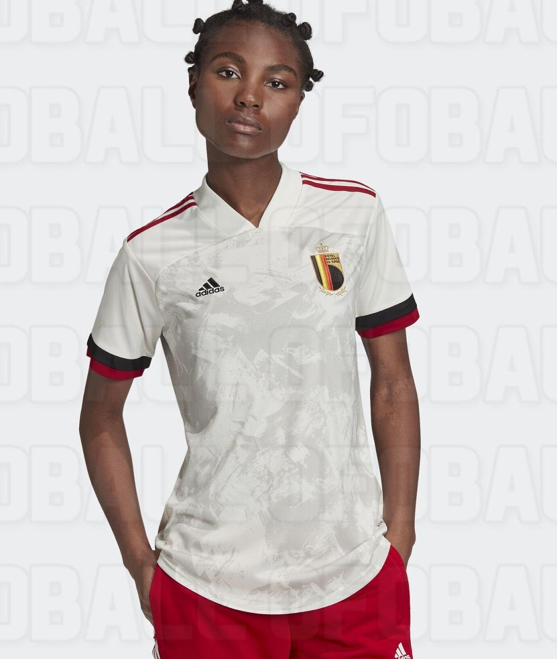Belgique Euro 2020 maillot foot exterieur Adidas femme