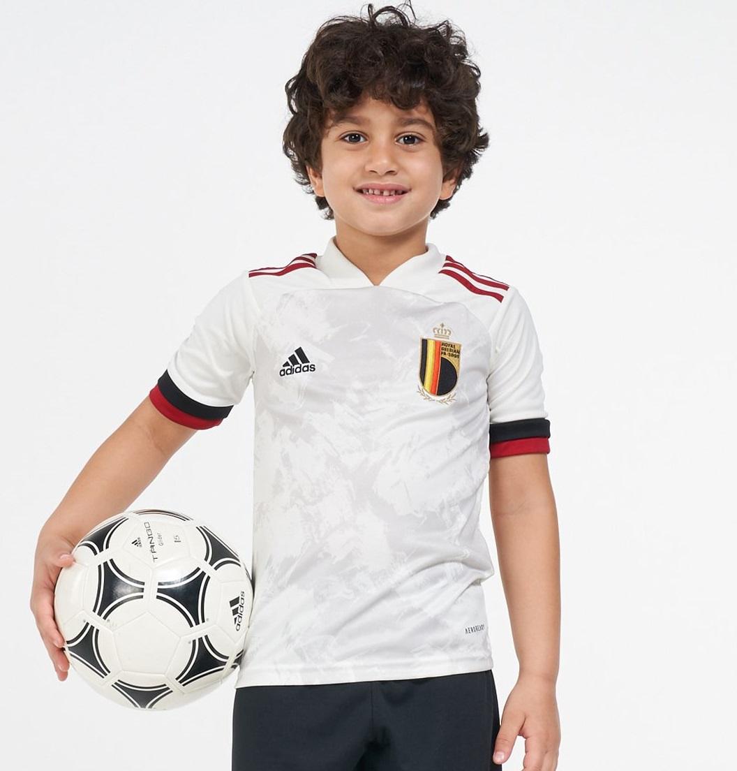 Belgique Euro 2020 maillot foot exterieur enfant
