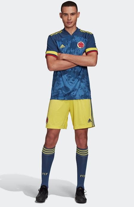 Colombie 2020 maillot de foot exterieur Copa America Adidas