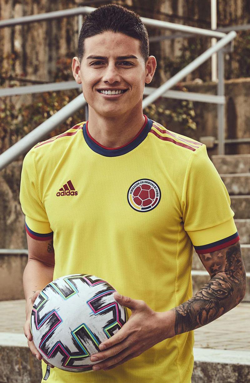 Colombie 2021 maillot de foot domicile James