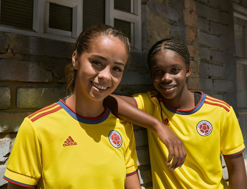 Colombie 2021 maillot domicile football Adidas