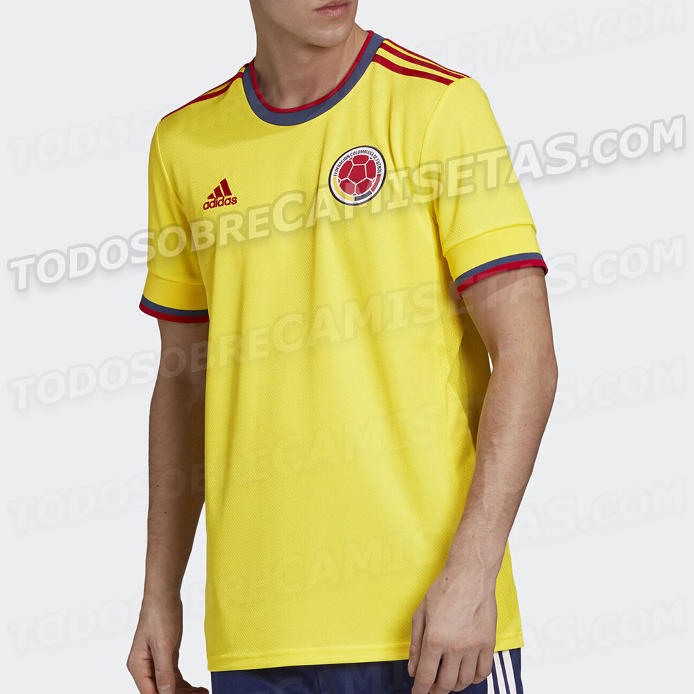 Colombie Copa America 2021 maillot domicile football Adidas