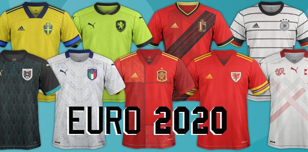 EURO 2021 tous les maillots de football Euro 2020
