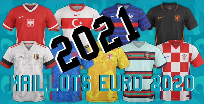 nouveaux maillots de football Euro 2020