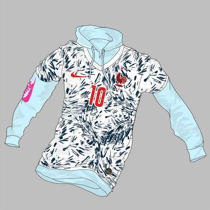 France Euro 2020 possible maillot exterieur foot