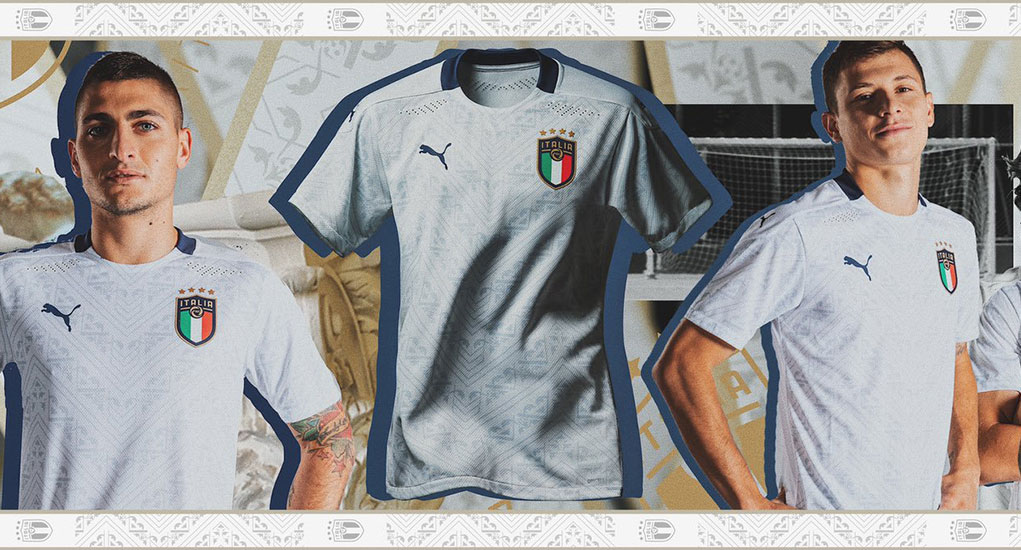 Italie Euro 2020 maillot de foot exterieur