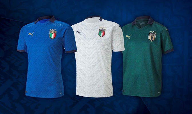 Italie Euro 2020 maillot domicile foot