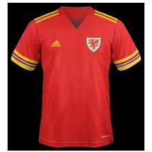 Pays de Galles Euro 2020 maillot de foot domicile