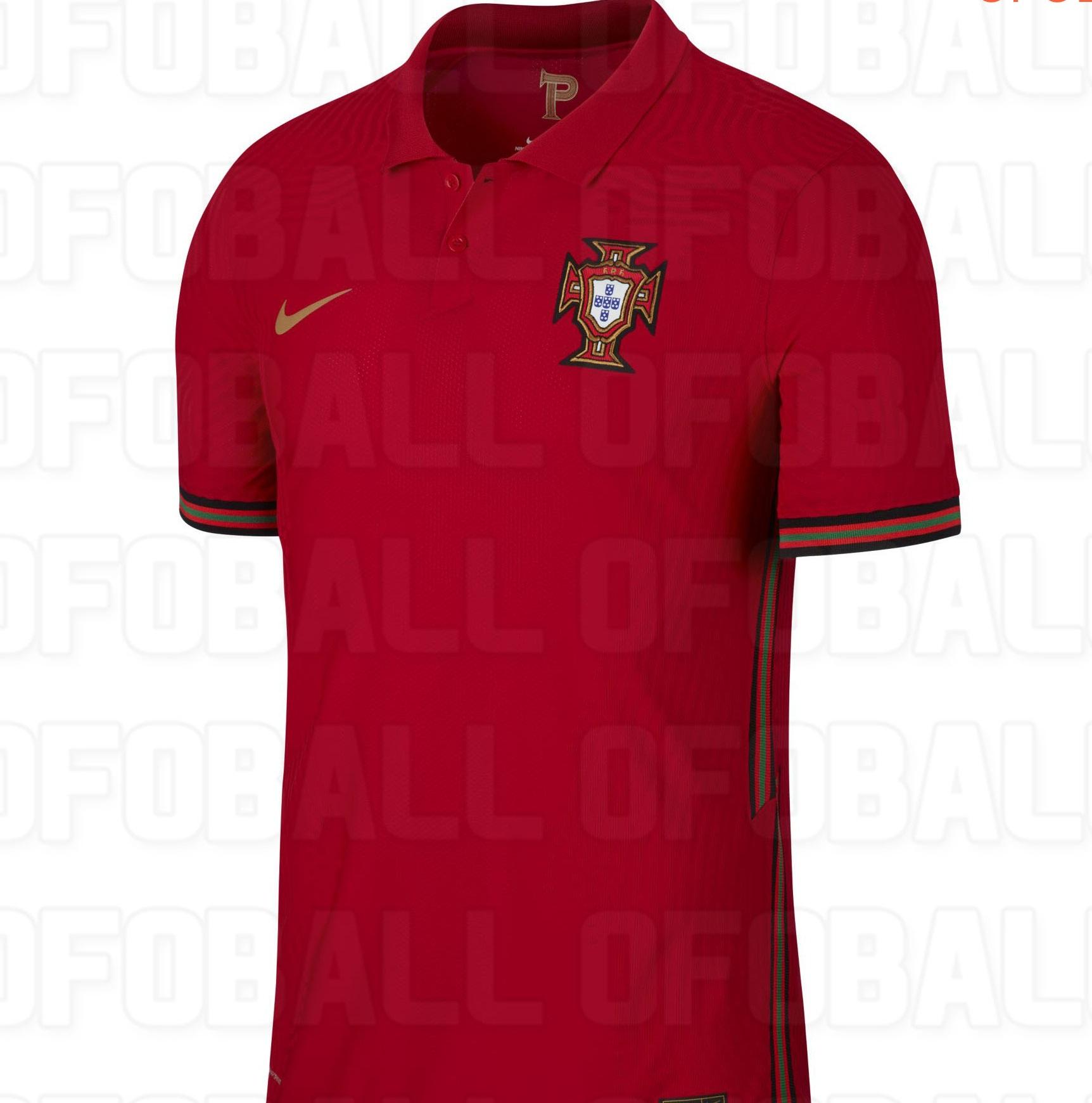 Portugal maillot domicile foot Euro 2020