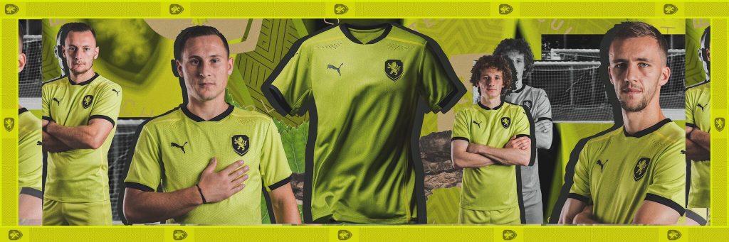 Republique Tcheque maillot exterieur vert fluo Euro 2020 foot