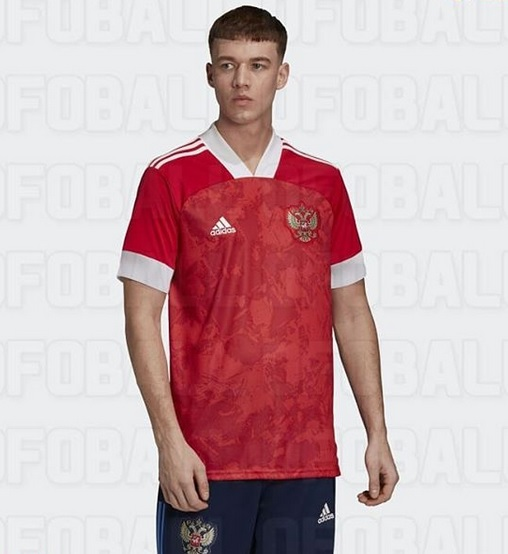 Russie Euro 2020 nouveau maillot domicile version 2 football