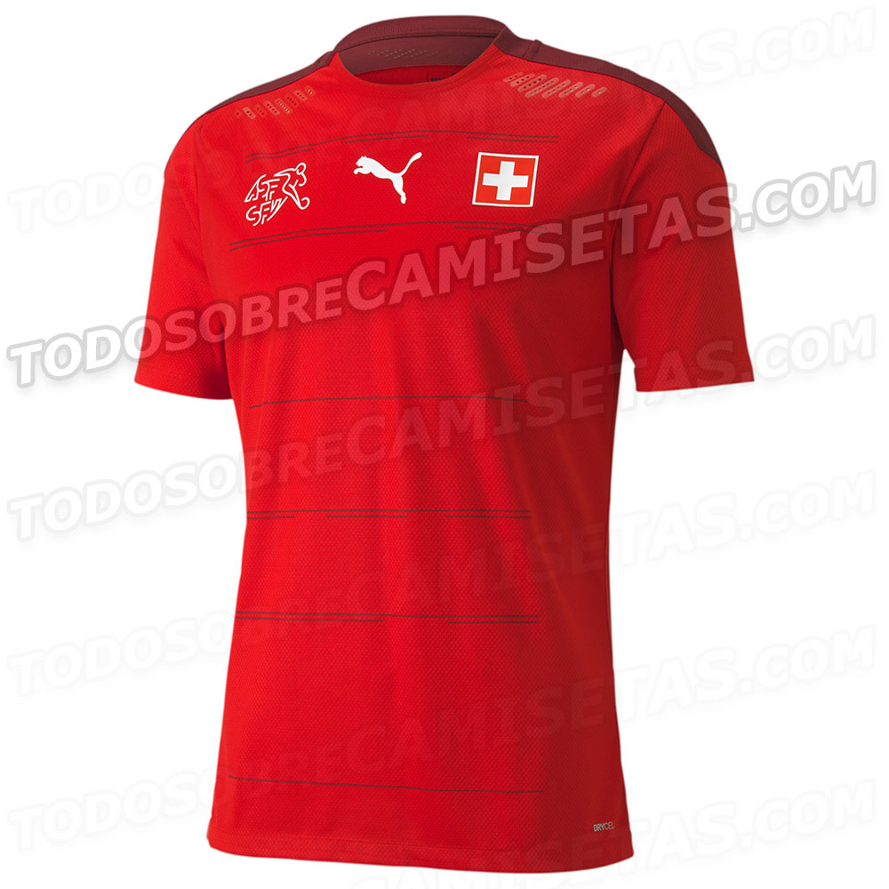 Suisse Euro 2020 maillot domicile football