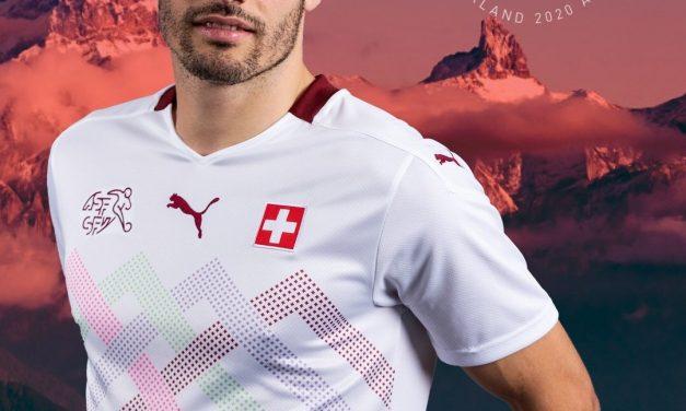 Les maillots de foot de la Suisse Euro 2020