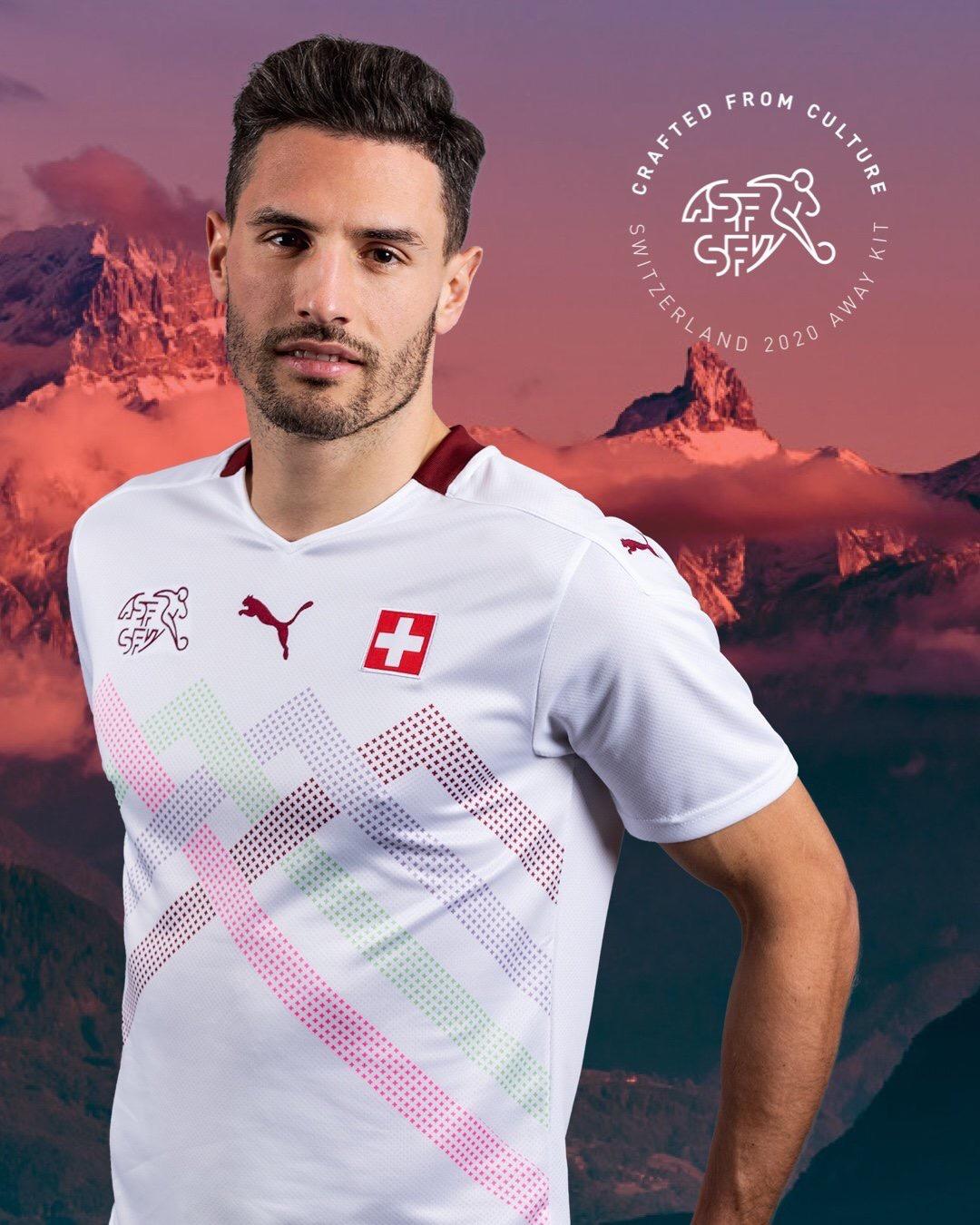 Suisse Euro 2020 maillot exterieur Puma