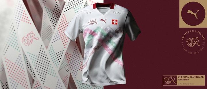 Suisse Euro 2020 maillot exterieur foot