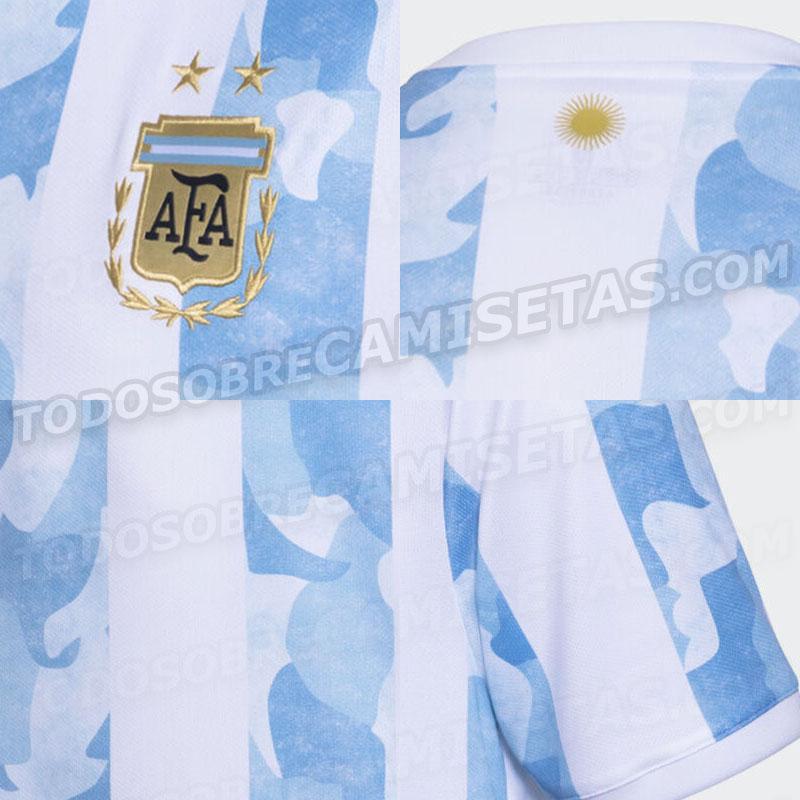 details Argentine Copa America 2021 maillot de foot domicile