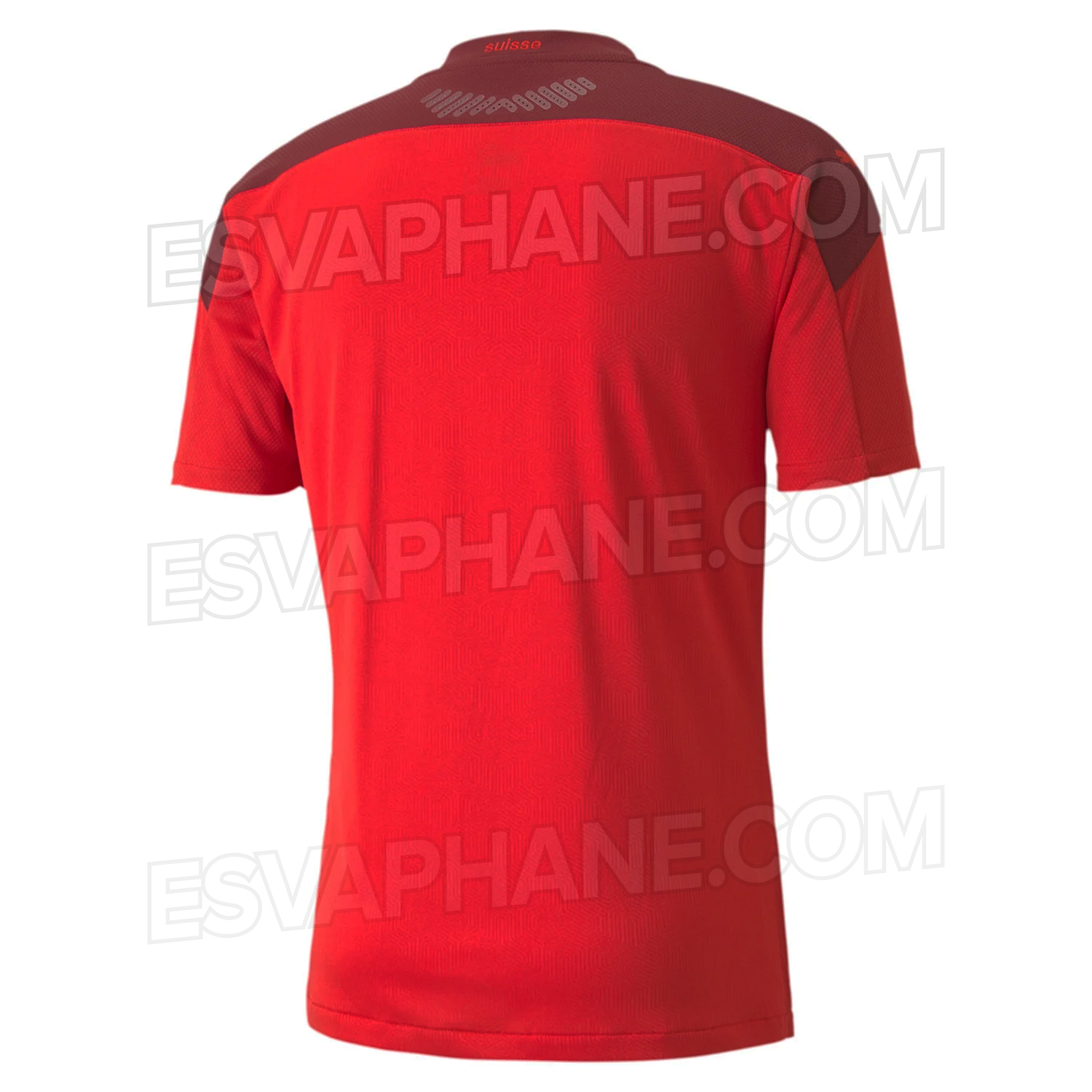 dos Suisse Euro 2020 maillot domicile football