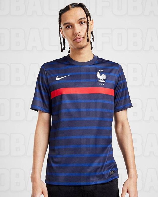 France Euro 2020 maillot domicile details relief