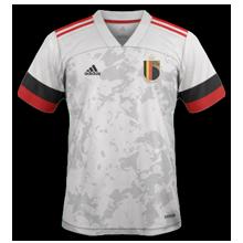 Belgique Euro 2020 maillot foot exterieur