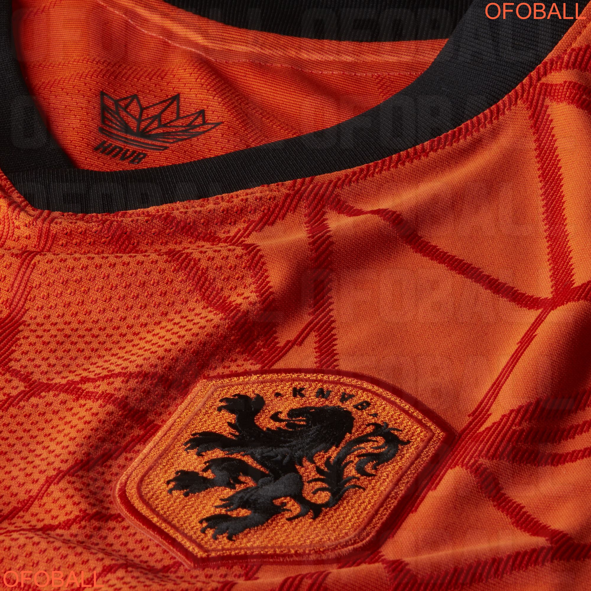 Pays-Bas Euro 2020 maillot domicile detail blason
