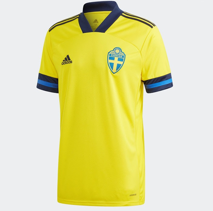Suede Euro 2020 maillot domicile foot